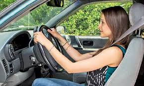 driving Sit straight
