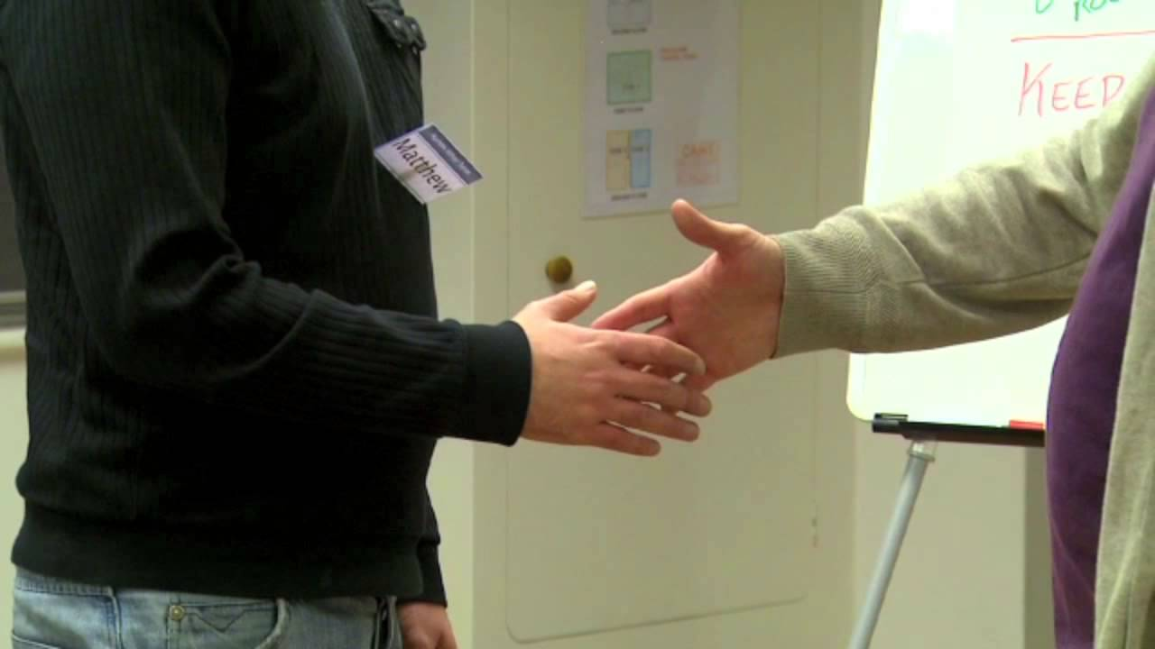 Hypnotic handshake induction